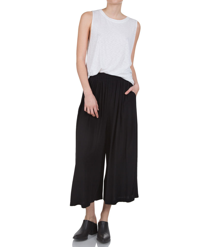 Cropped Pull On Pants
