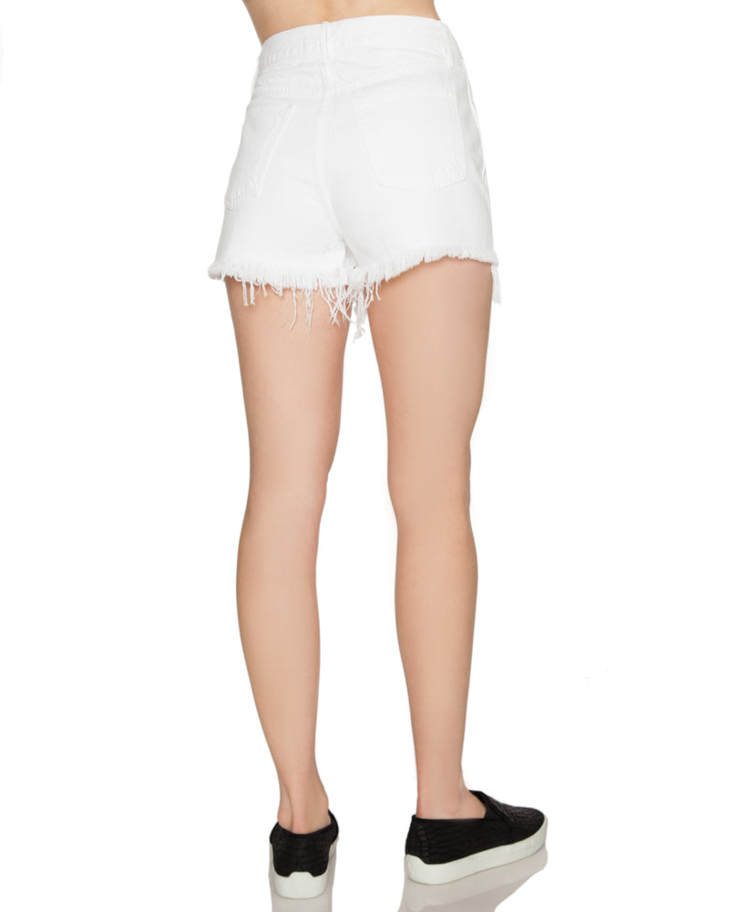Carter High Waist Frayed Short