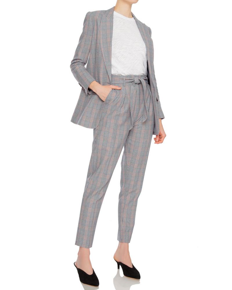 Jeanne Plaid Blazer