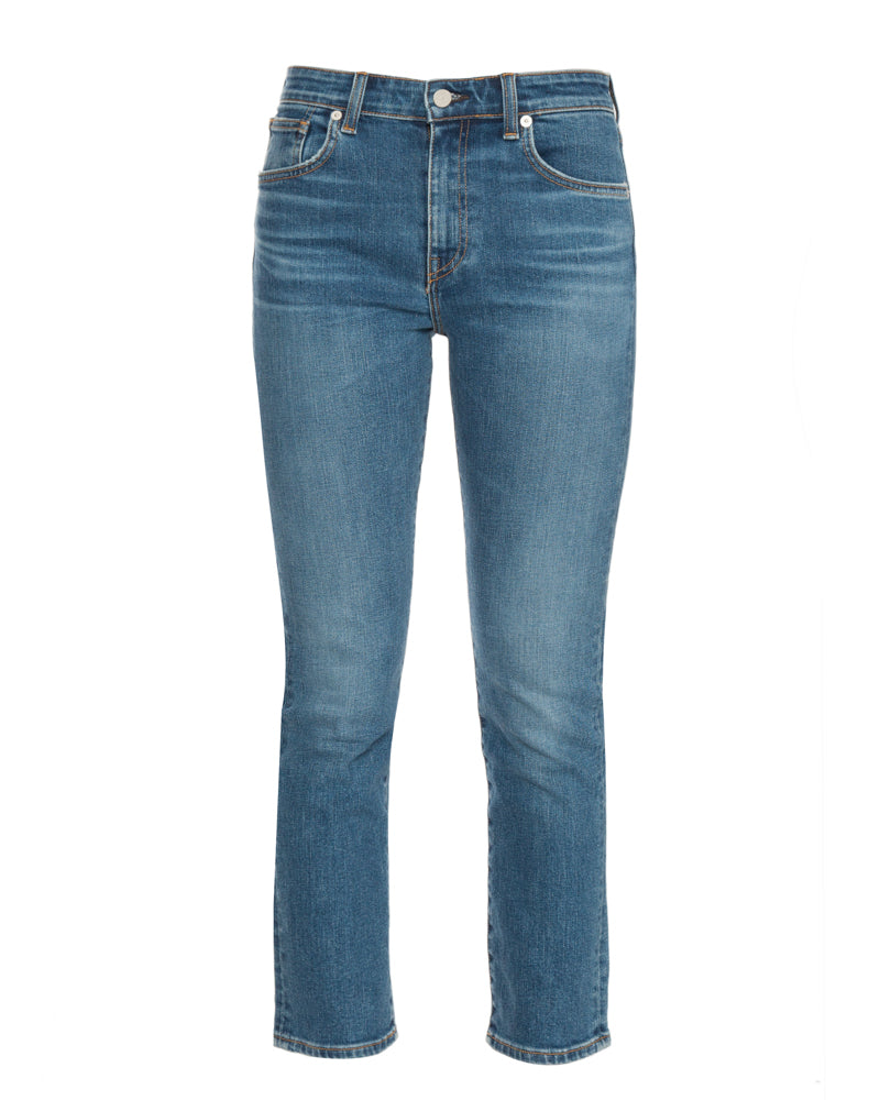 Friend High Rise Straight Leg Jeans