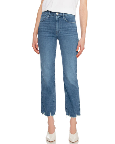 Austin Crop Straight Leg High Rise Jean in Eliza