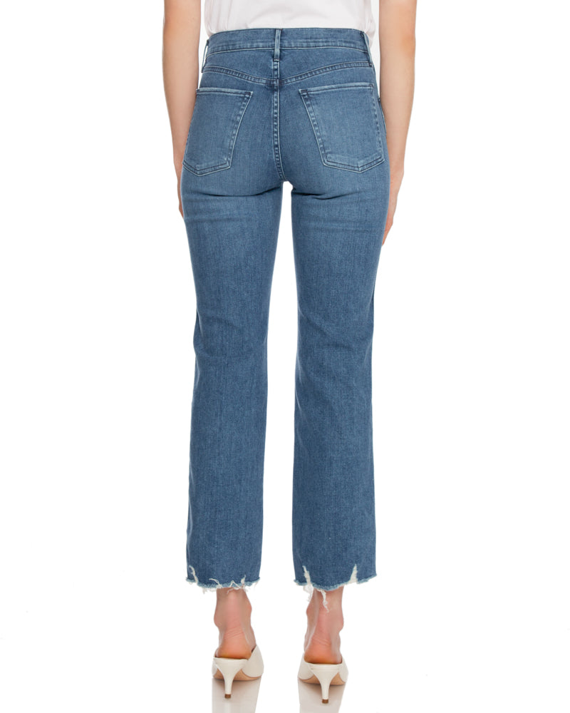 Austin Crop Straight Leg High Rise Jean