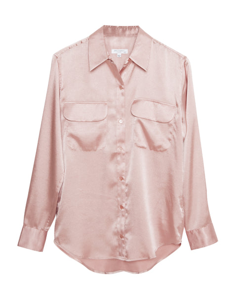 New Signature Button Down Shirt in Ciel Mauve