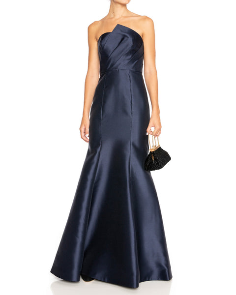 Strapless Gown with Draped Bodice- EXTRA 10% OFF AT CHECKOUT