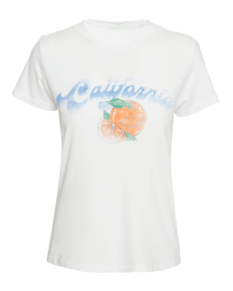 Boxy Goodie Goodie Tee in California Oranges