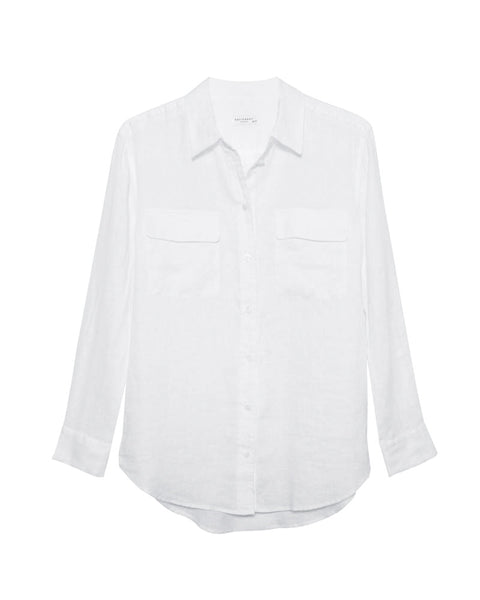Signature Linen Shirt in Bright White