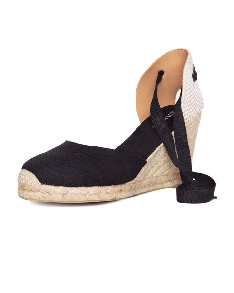 Tall Wedge Linen Espadrilles