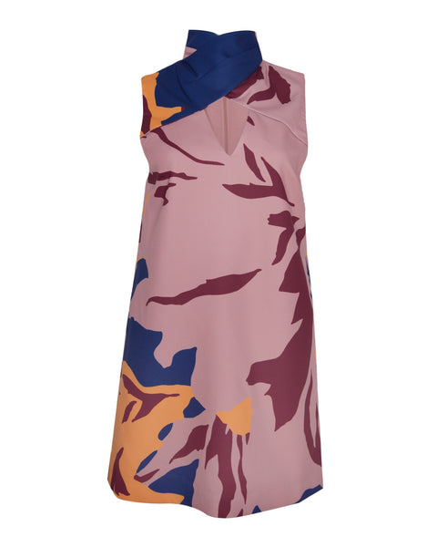 For The People High Neck Floral Dress