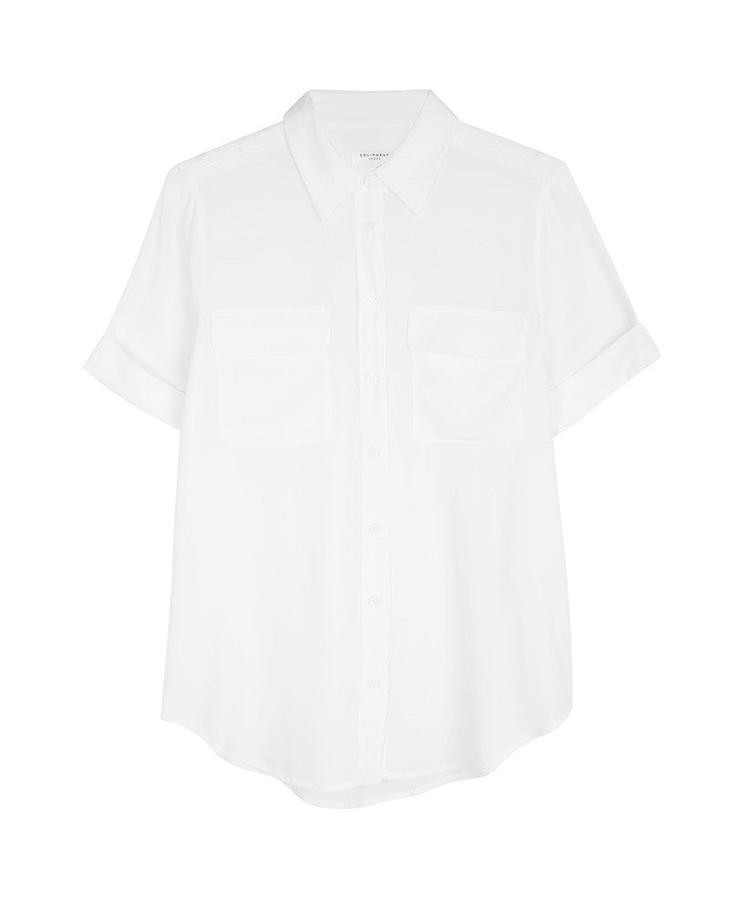 Short Sleeve Slim Signature-Bright White