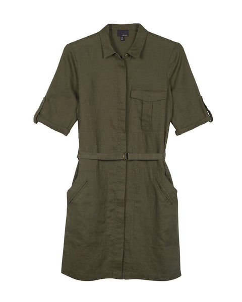 Elisia Linen Shirtdress