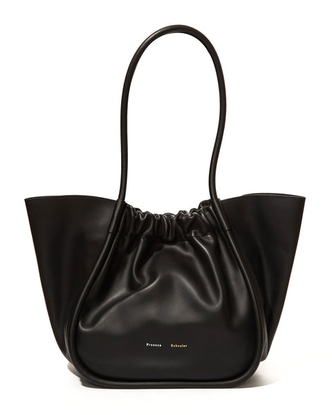 Large Ruched Tote - Smooth Calf