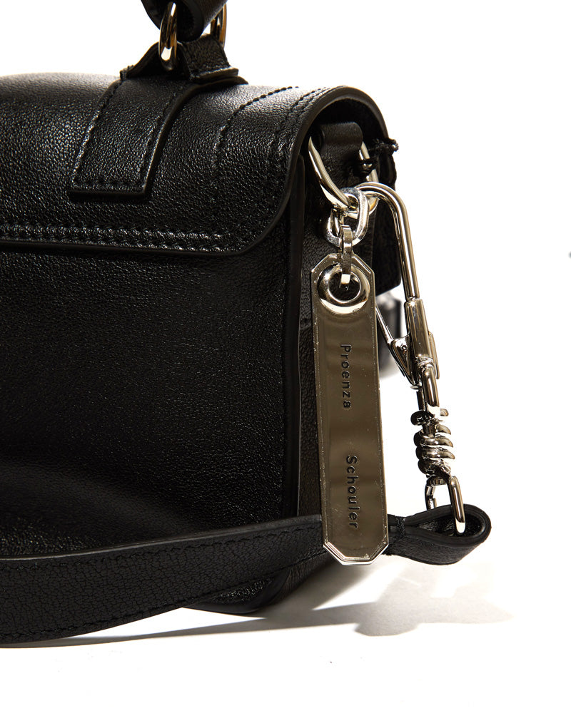 Micro Lux Leather Bag in Black