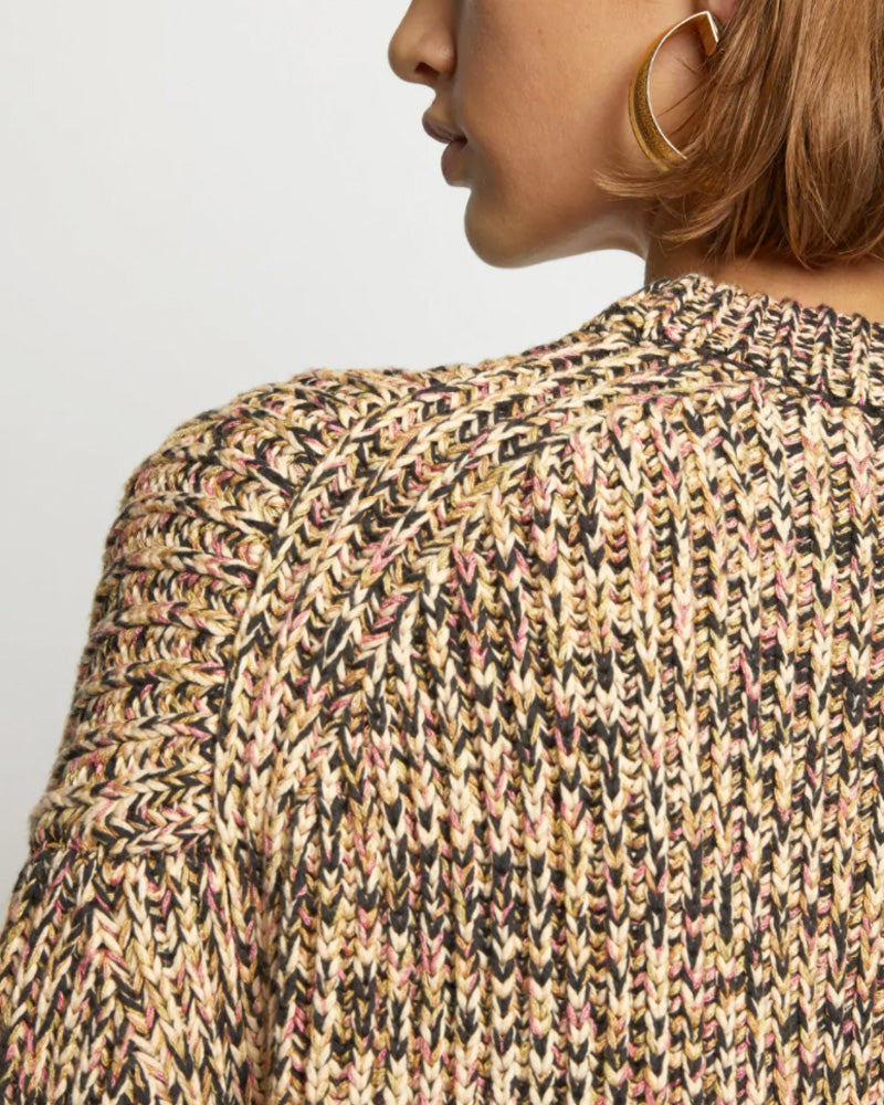 Mixed Yarns Knit Top