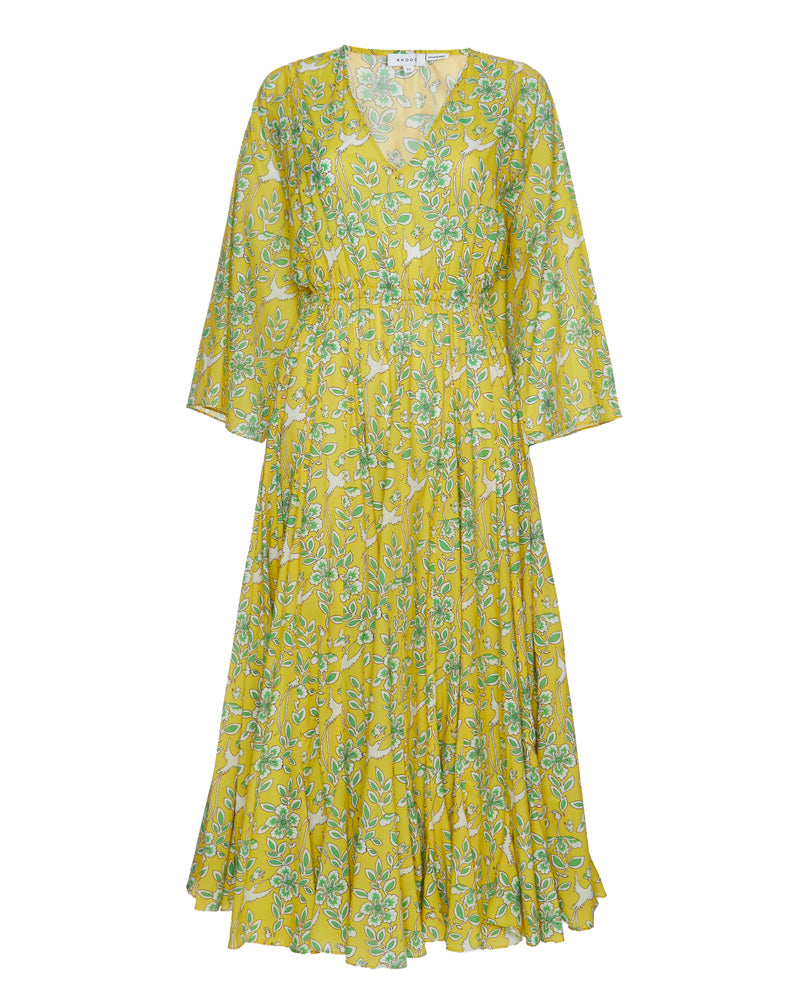 Emily V Neck Kimono Sleeve Maxi Dress