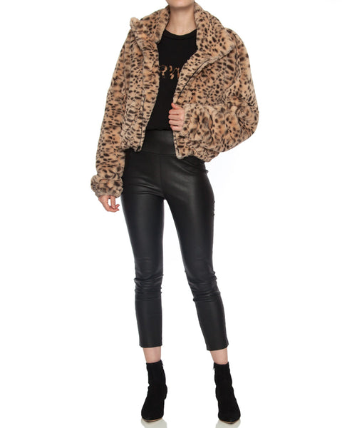 Cropped Faux Fur Coat