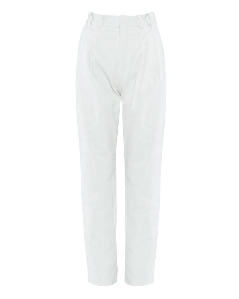 Tailored Stretch Leather Trouser