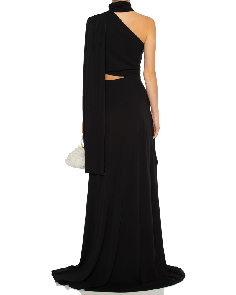 Honey Crepe Cut Out Gown