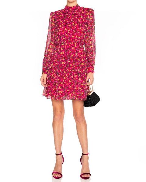 Isabel B Printed Silk Mini Dress