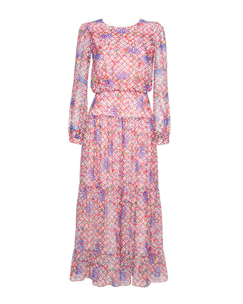 Isabel Silk Floral Print Maxi Dress