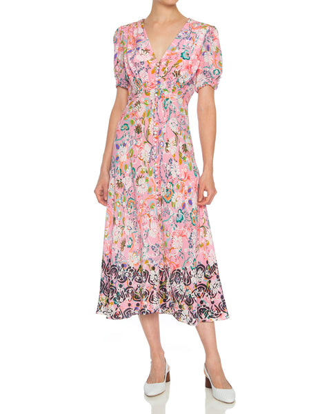 Lea Silk Midi Dress