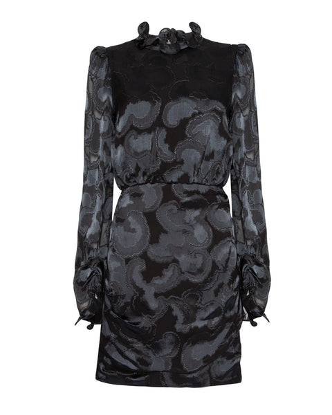 Rina B Ruffled Neckline Dress