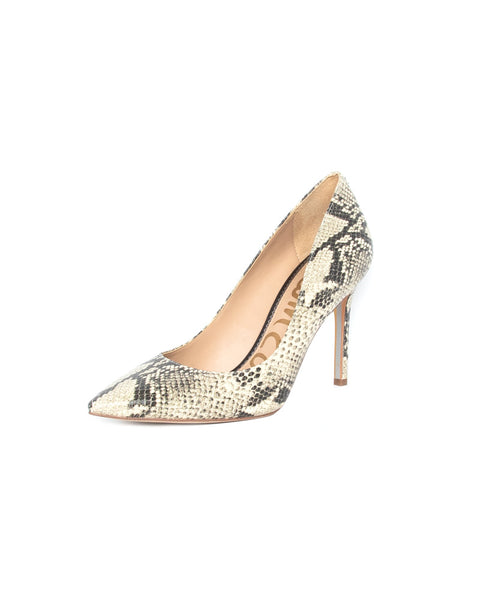 Hazel Pointed Toe Heel in Beachmulti