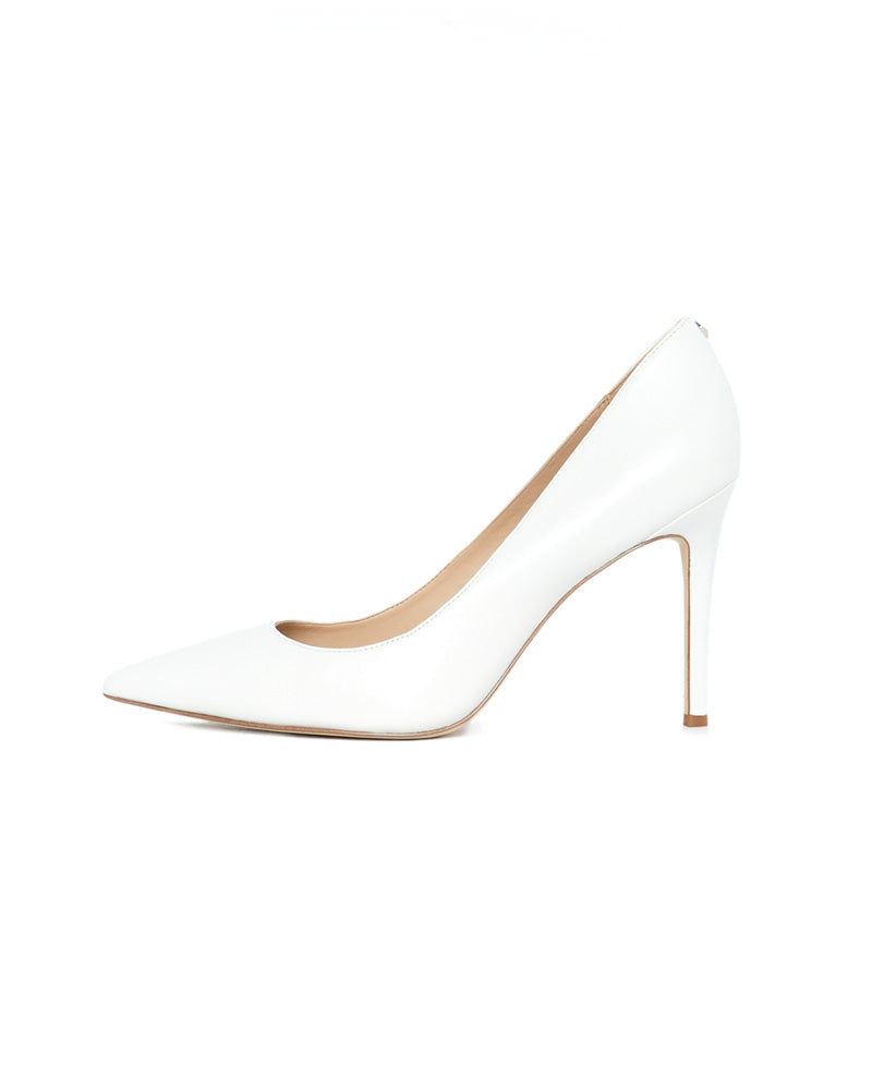 Hazel Pointed Toe Heel in Bright White