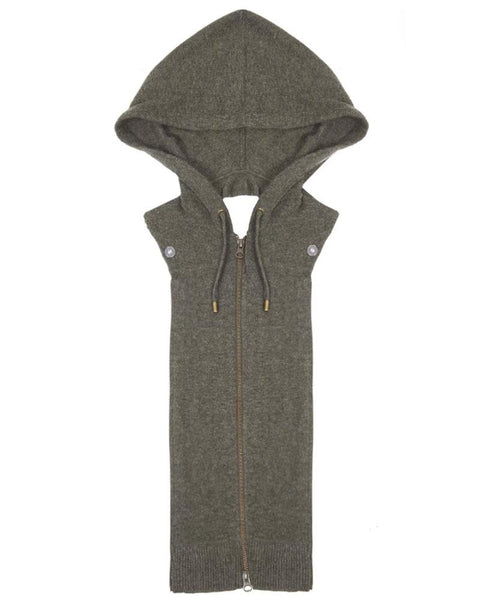 Cashmere Hoodie Dickey in Army Green