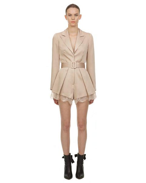 Taupe Viscose Playsuit