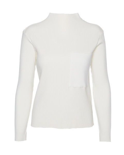 Heavy Rib Funnel Neck Top