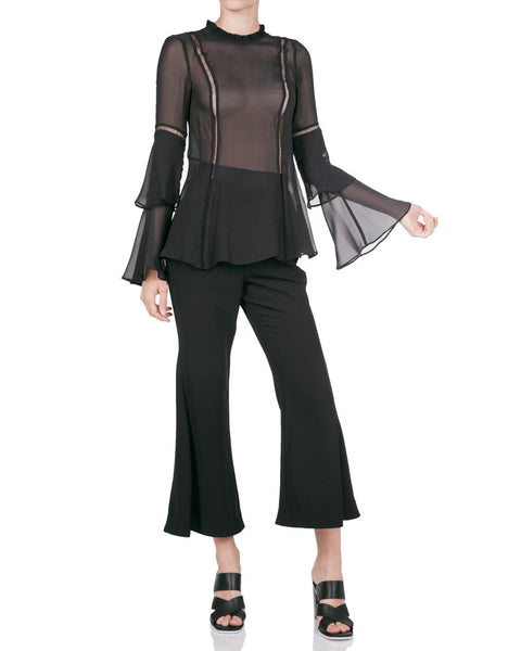 Georgette Layered Sleeve Top