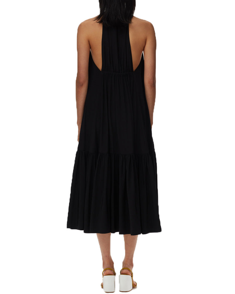 Eco Silk Halter Midi Dress