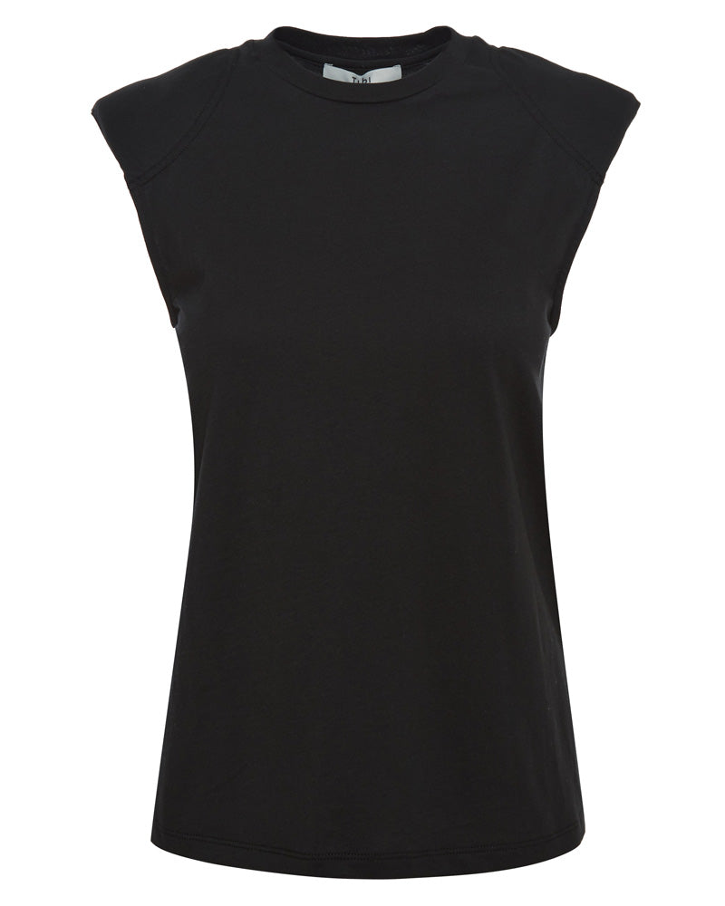 Tshirt Program Padded Shoulder Sleeveless Top