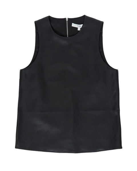 Vegan Leather Perfect Shell Top