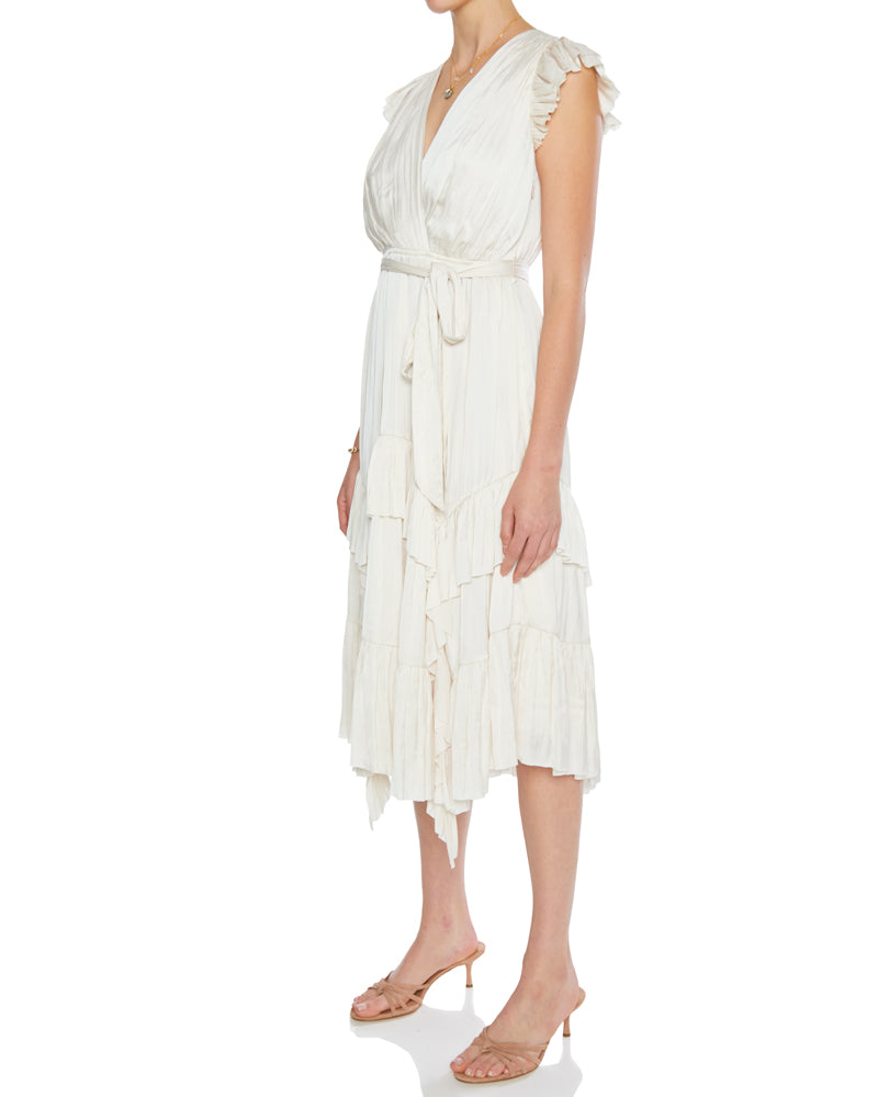 Abella Surplice Neckline Dress