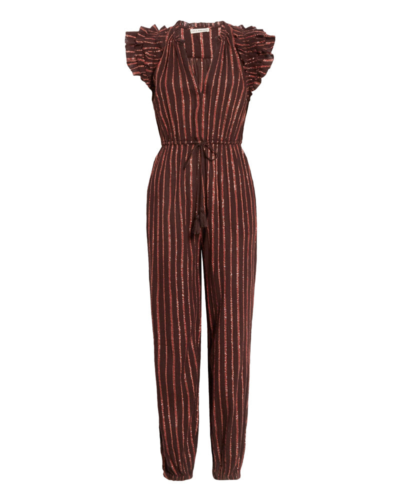 Elio Metallic Stripe Jumpsuit