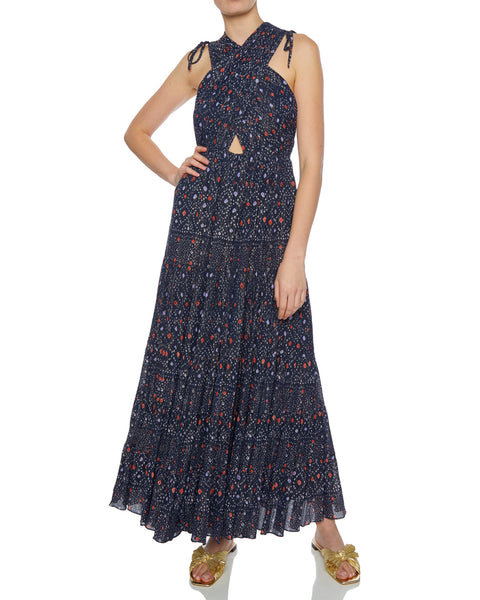 Karima Crisscross Bodice Maxi Dress