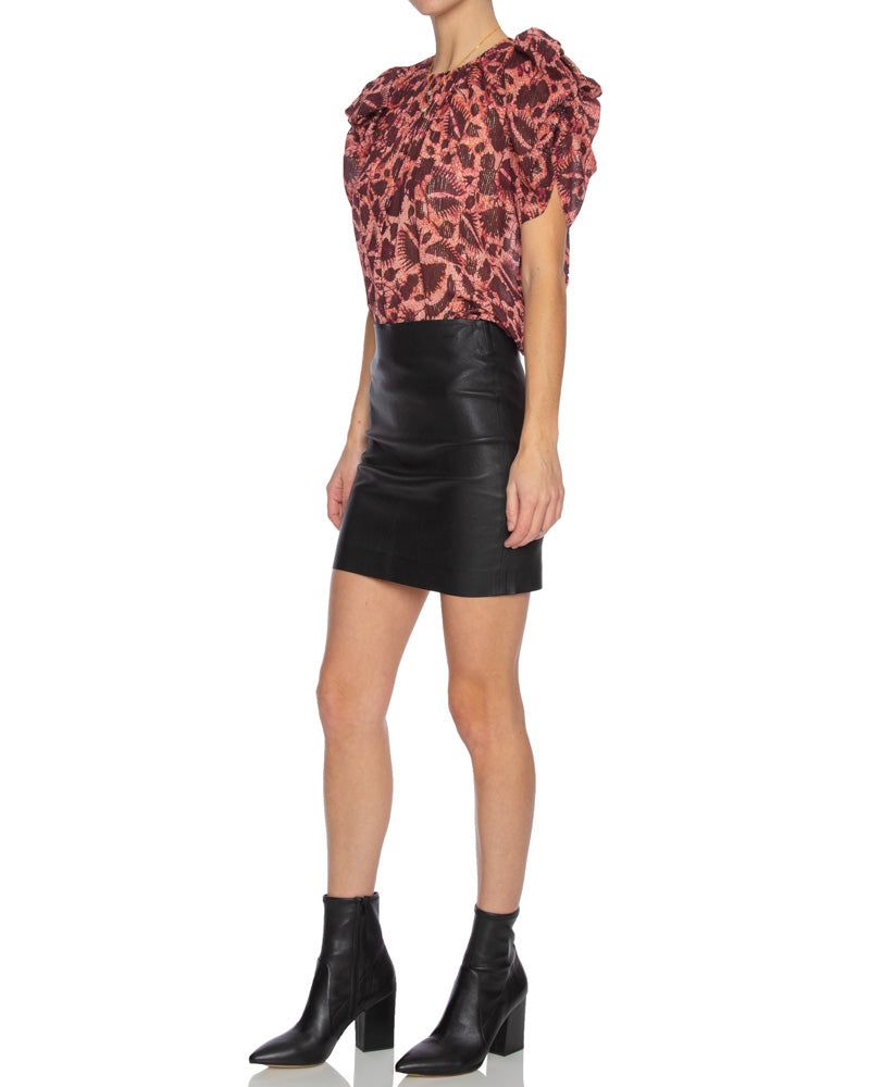 Nova Short Puff Sleeve Top