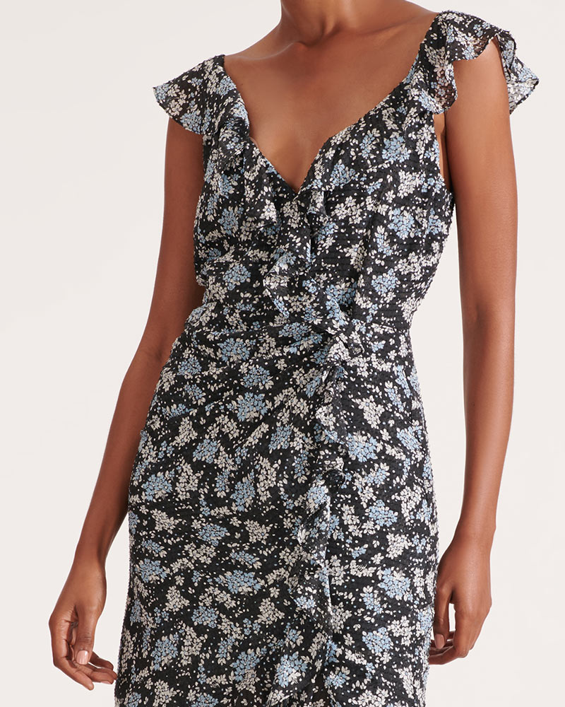 Amal Ruffled Floral Dress