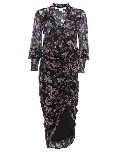 Shaia Floral Ruched Dress
