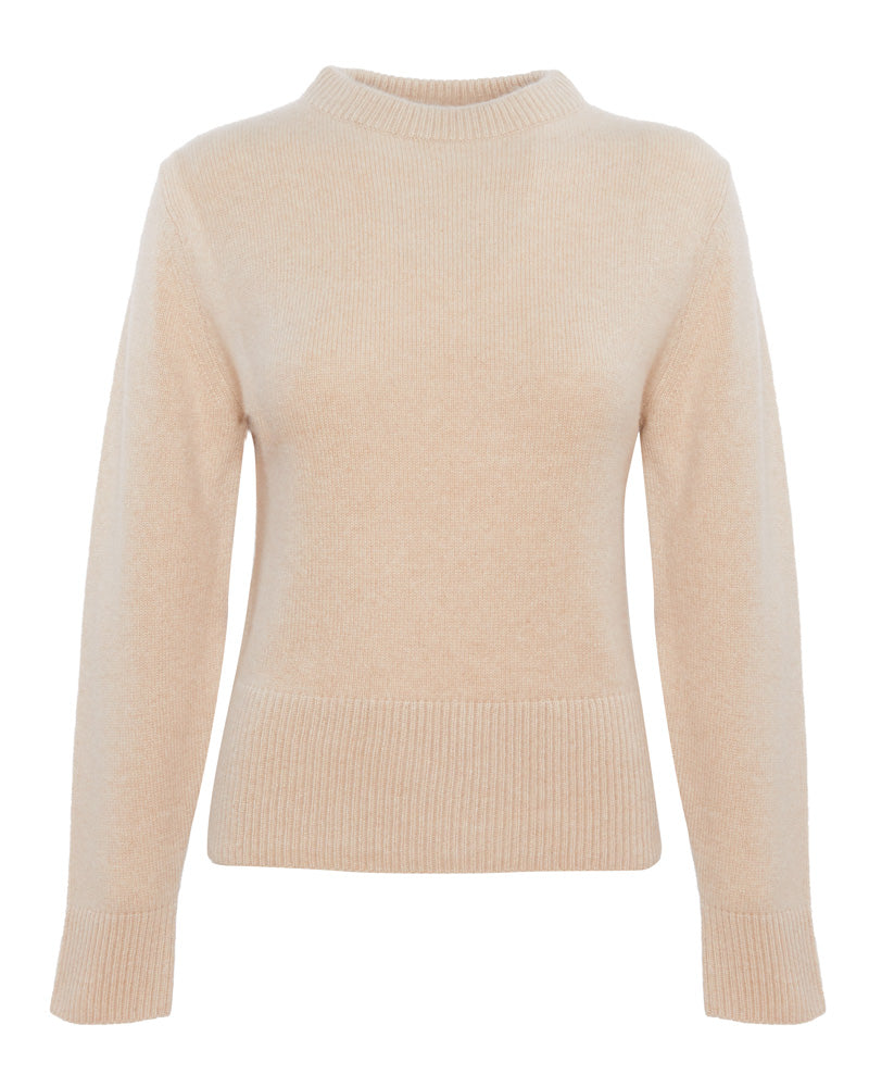 Drop Shoulder Mock Knit