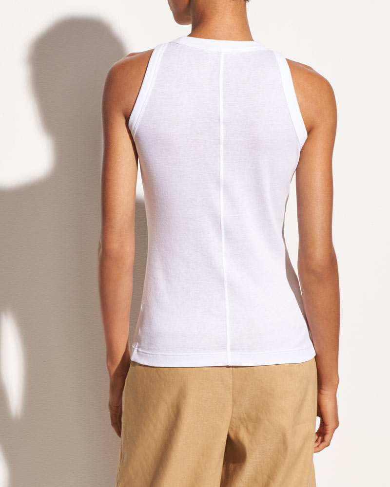 High Neck Tank in Optic White- EXTRA 10% OFF AT CHECKOUT