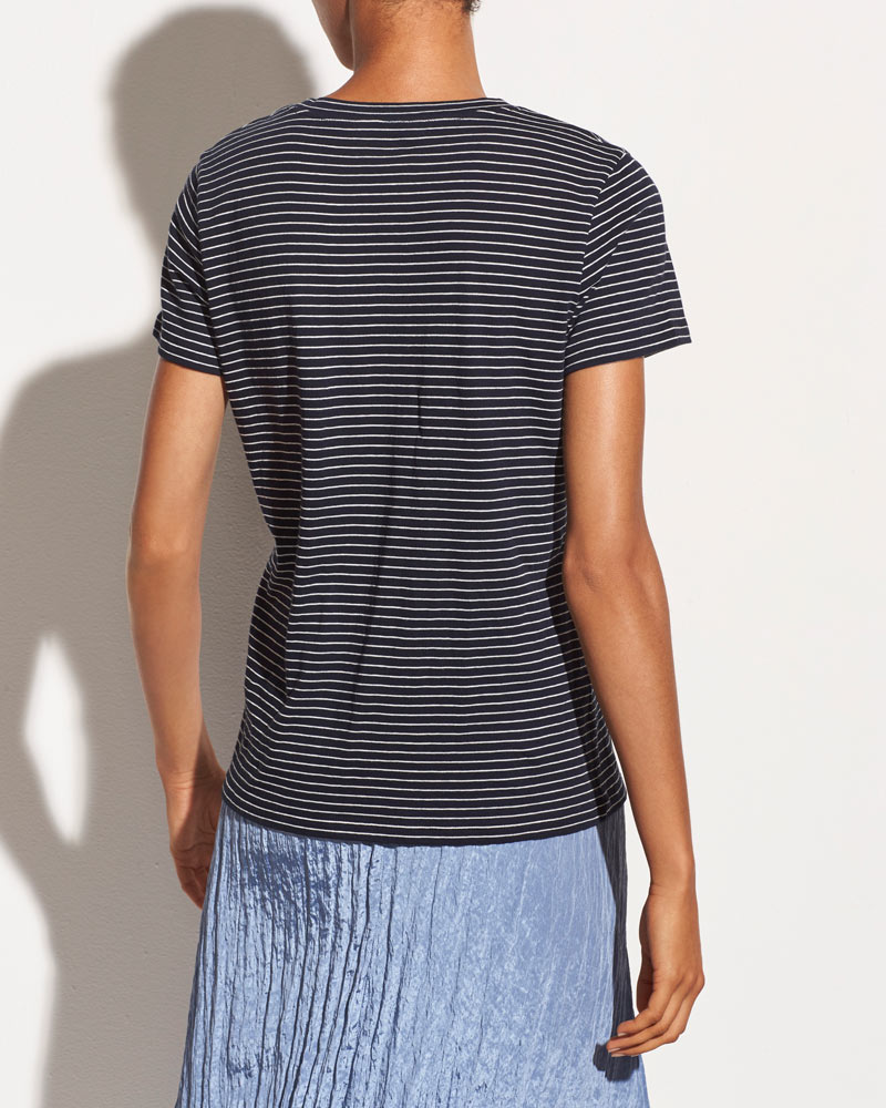 Pencil Stripe Essential Crew Neck Tee