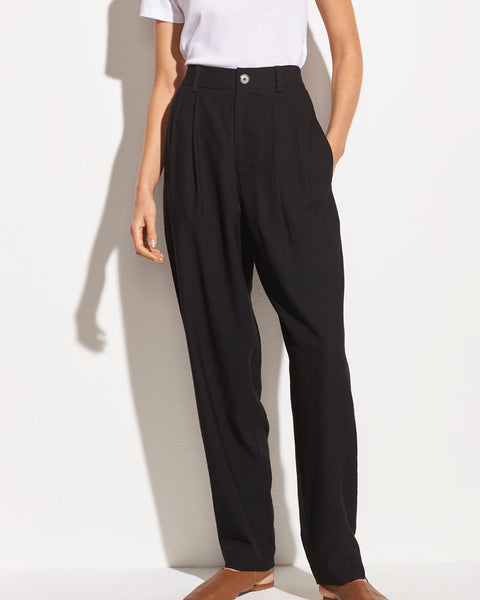 Pleat Front Tapered Trouser