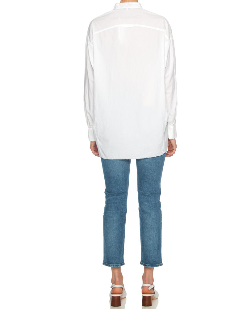 Raw Edge Oversized Long Sleeve