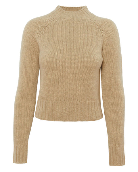 Shrunken Mock Neck Sweater
