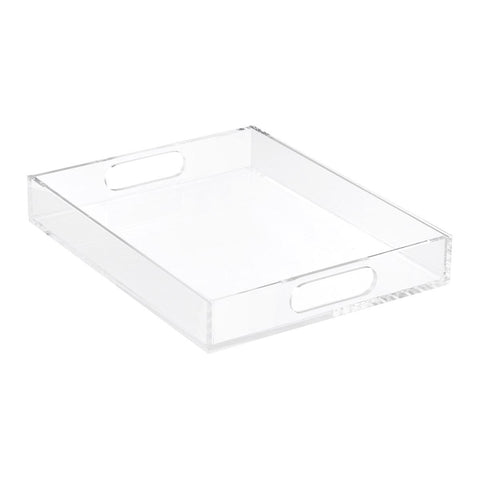 Lucite tray for organization