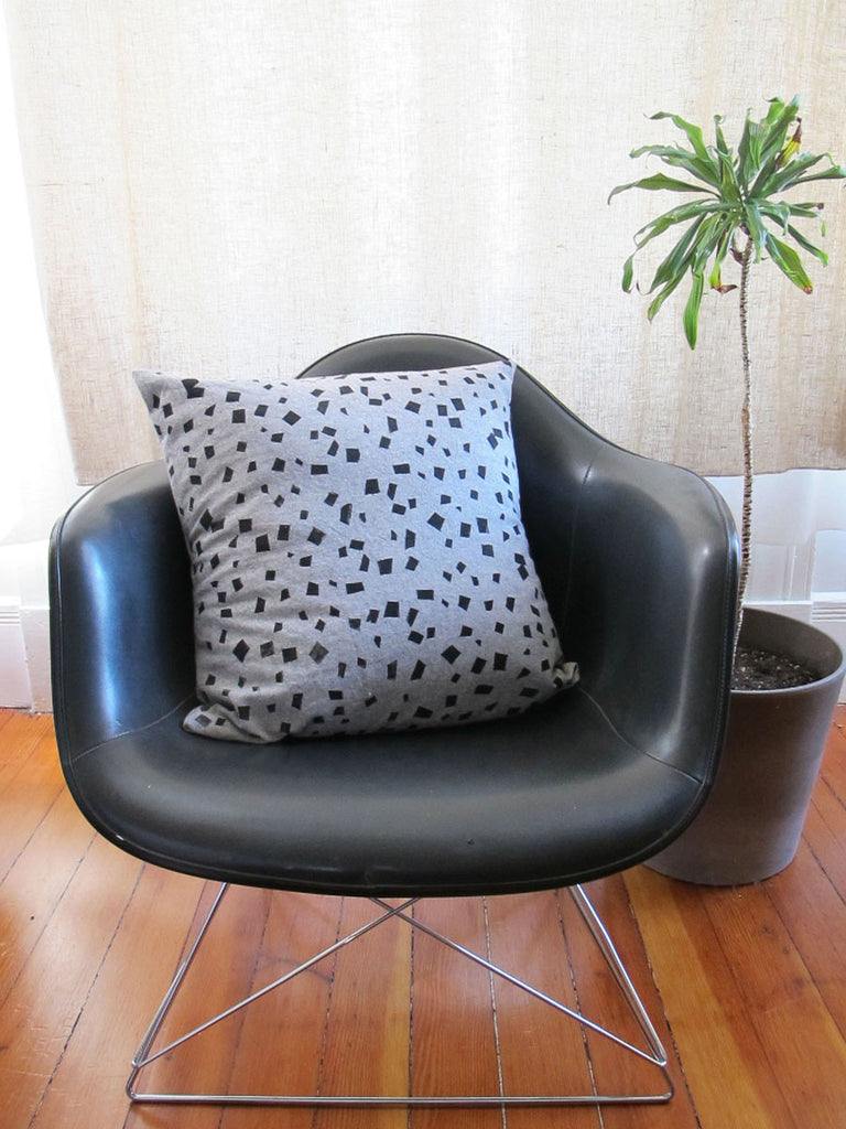"Black and Grey Pillow in ""Big Kaboom!"""