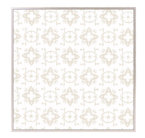 "Large Block Printed Canvas - ""Casablanca"" in Cream"