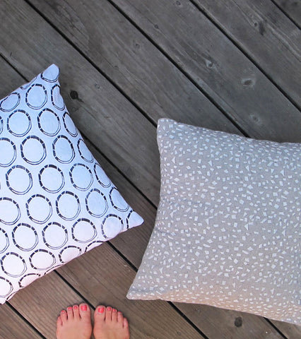 "18"" Grey Pillow Cover in ""Kaboom!"""
